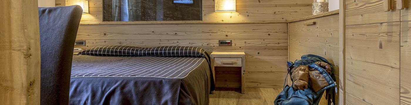 Hotel 4 stelle ad Andalo, camere in legno naturale